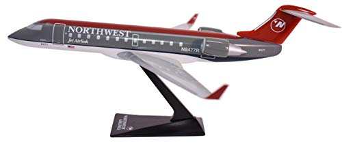 (Flight Miniatures Northwest Airlines NWA Bombardier CRJ200 Jet Airlink 1:200 Scale Display Model)