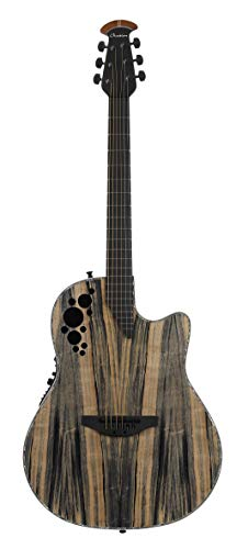 Ovation ExoticWoods Collection 6 String Deep Contour Body Acoustic Electric Guitar, Right, Dragon Wood, (C2078AXP-DW)