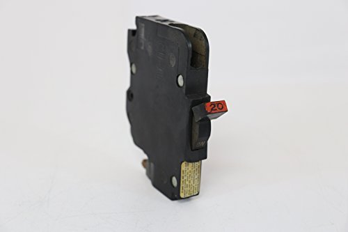 1- FPE NC120 120/240V 20A 1P Stab-Lok THIN Circuit Breaker NC 020 1-POLE(OUT OF FACTORY CARTON) RED OR BLACK (Federal Pacific Electric Circuit Breaker)