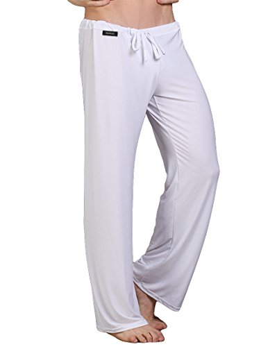 Nidicus Men's Lounge Straight Loose Yoga Martial Arts Pants with Drawstring