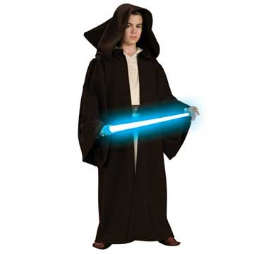 Star Wars Childs Super Deluxe Jedi Robe Costumelarge from Rubies