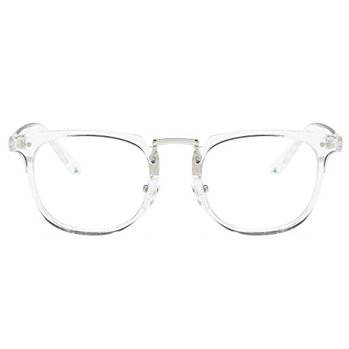 Amomoma Square Reading Glasses Optical Frame Clear Lens Eyewear Eyeglasses AM5021 C3 - For Shape Long Face Eyeglass
