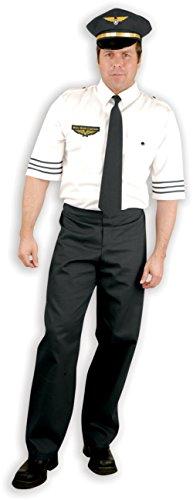 Adult Men's Mile High Aviation Plane Pilot Captain Costume Medium 40-42