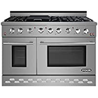 NXR SC4811 48 7.2 cu.ft. Professional Style Gas Range with Convection Oven, Stainless Steel