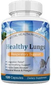 Healthy Lungs 120 Capsules - Improve Lung Function, Breathe Better, Stop Mucus, Phlegm and Allergies Quickly. Get Relief Fast with Healthy Lungs an All Natural Lung Health Supplement