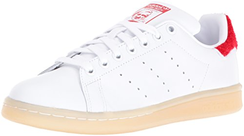 adidas Originals Women's Stan Smith w Fashion Sneaker, White/White/Collegiate Red, 11 M US