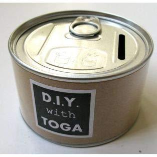 Toga Metal and Kraft can moneybox Ø 8.5 x 5 cm