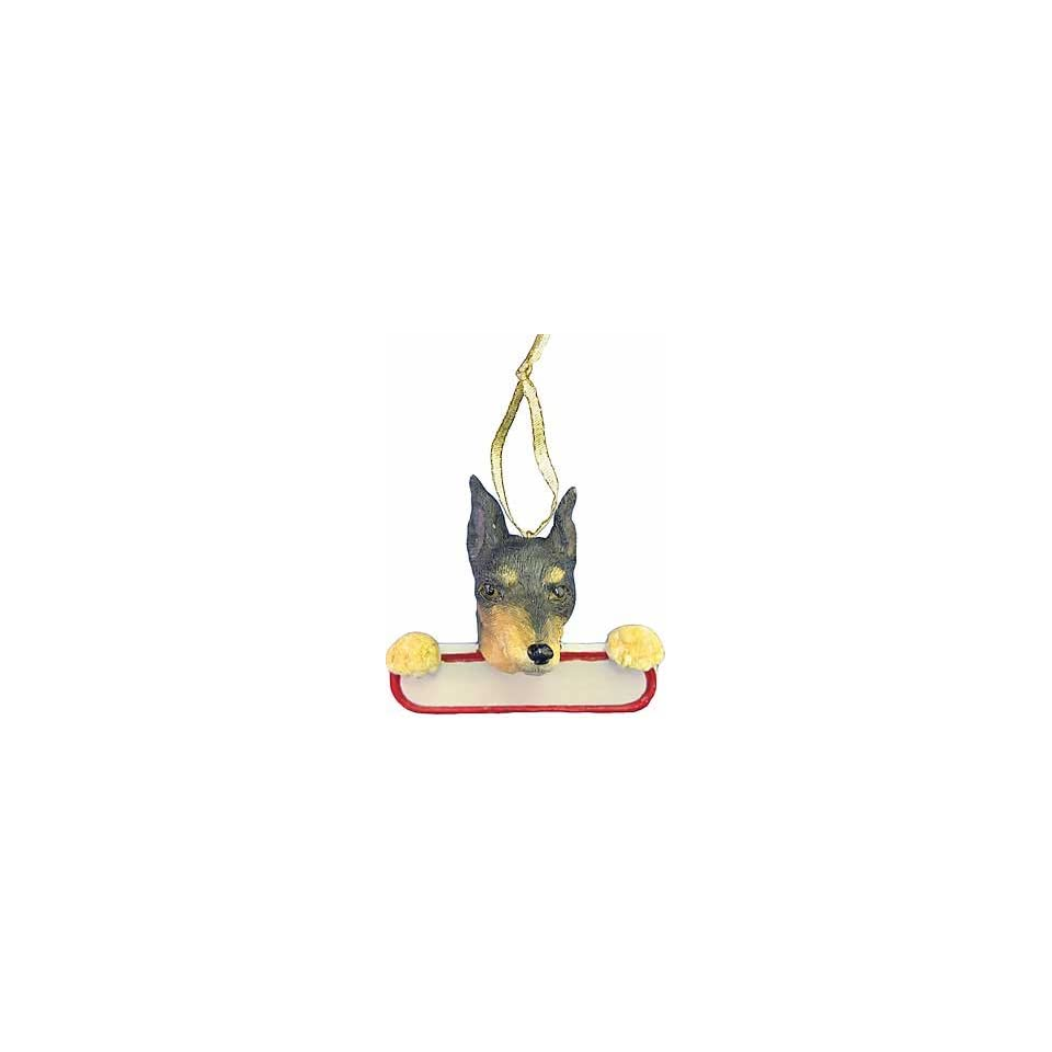 Personalizable Min Pin Christmas Ornament