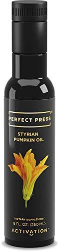 Activation Products, Perfect Press Styrian Pumpkin Oil - Powerful Antioxidant Pumpkin Seed Supplement - Organic, Vegan Liquid Pumpkin Seed Oil for Prostate, Bladder and Kidney Health, 250ml