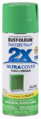 Spring Paint Chips (Rust-Oleum 314751 Painter's Touch 2X Ultra Cover, 12 oz, Spring Green)