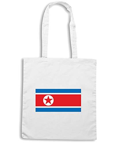 Bianca KOREA NORTH TM0215 Borsa Shopper FLAG 4ZqT5R