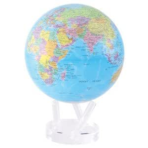 "8.5"" Blue Oceans with Political Map Globe"
