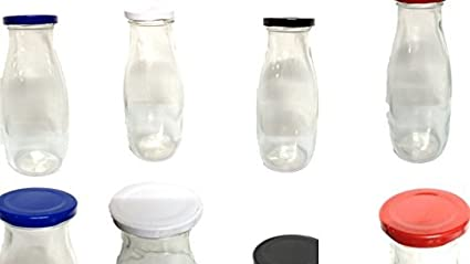 Botellas de cristal (12unidades, cuello ancho 0,5L. /Botellas de leche