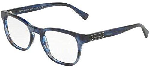 (Dolce&Gabbana DG3260 Eyeglass Frames 3065-52 - Striped Blue DG3260-3065-52)