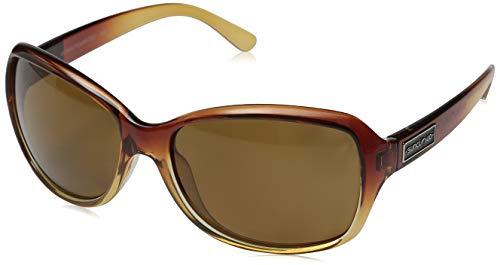 Suncloud Mosaic Polarized Sunglasses, Brown Fade Frame, Brown ()
