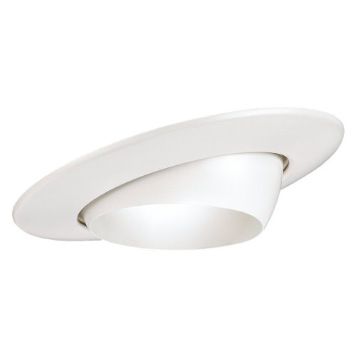 Sea Gull Lighting 1136-15 Recessed Lighting Fixture Eyeball Trim, White - Lighting 4' Eyeball Trim