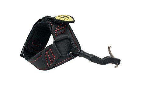 TruFire Hardcore Buckle Foldback Adjustable Archery Compound Bow Release - Black Wrist Strap with Foldback Design