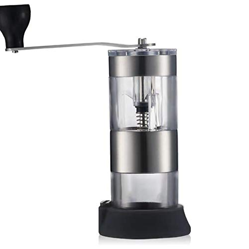 - Manual Coffee Grinder - Because Hand Ground Coffee Beans Taste Best, Infinitely Adjustable Grind, Glass Jar, Stainless Steel Built to Last, Quiet and Portable