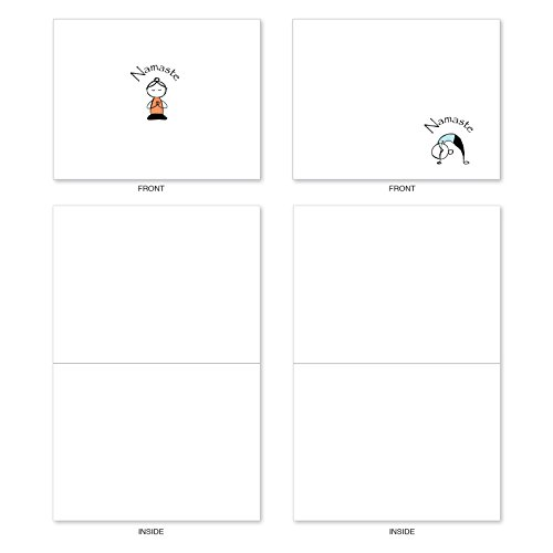 M3963 Namaste Notes: 10 Assorted Blank All-Occasion Note Cards Feature Zen Serenity Yoga Poses, w/White Envelopes. Photo #3