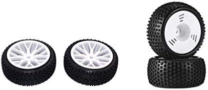 Hellery 4個セット RCカータイヤ ホイールリム ゴム製 1/16 RCバギー用 交換部品
