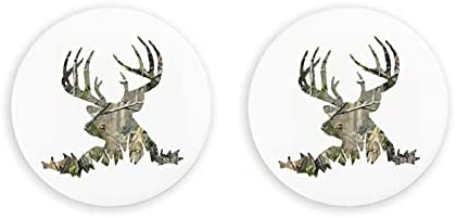 Abrebotellas redondas silueta de ciervo / imanes de nevera sacacorchos de acero inoxidable pegatina magnética 2 piezas