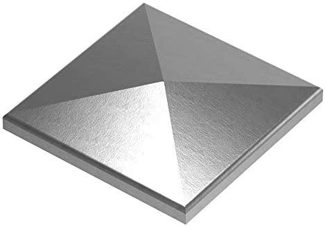 30 x 30 mm Stahl S235JR Pfeilerbedecker roh Abdeckkappe für Quadratrohr Maße