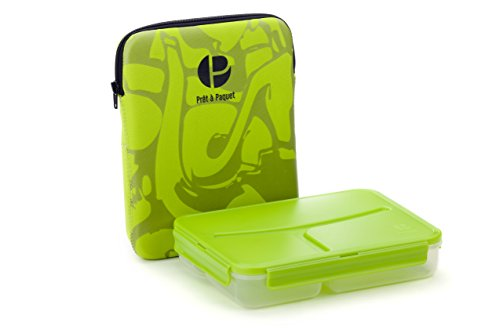 Stylish Sleeved Amazing LEAK-PROOF Lunch Box-Ideal Size For You! 100% Food SAFE! Easy To Clean And Dry! (Green)