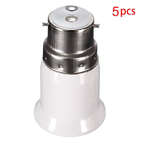 - B22 to E27Lamp Holder Converter Base Bulb Socket Adapter LED Light ES Edison Screw Adapter Converter (5pcs)