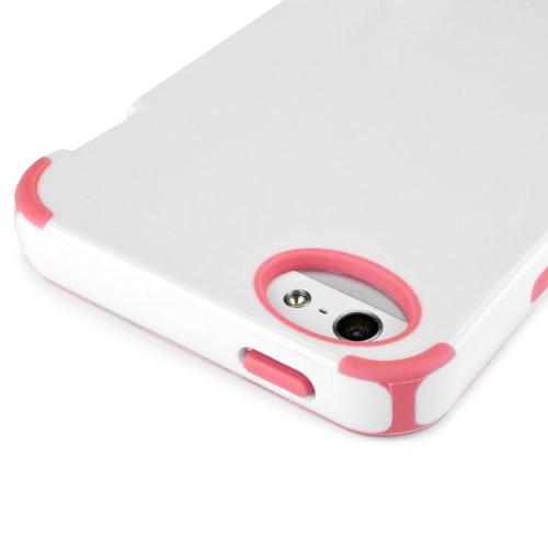 BoxWave Apple iPhone 5pure Accent–Silikon TPU Case passgenaue Schutzhülle–Apple iPhone 5Fällen und Abdeckungen (weiß/pink)