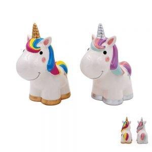 Leonardo - Hucha de cerámica con diseño de Unicornio (se enviará al Azar) Unicorn Money Box