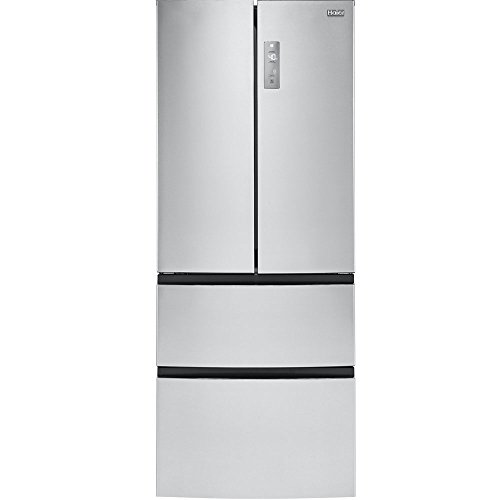 "Haier 15-Cu.-Ft. French-Door Refrigerator 28"" width Stainless Steel HRF15N3AGS"