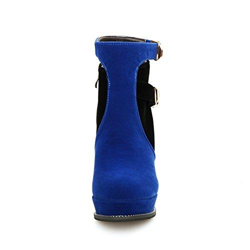 Sconosciuto 1TO9Mns02090 - con Plateau Donna, Blu (Blue), 35