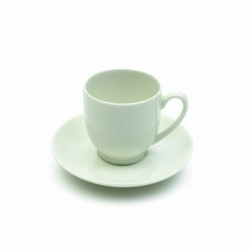 Maxwell and Williams Basics Round Demi Cup and Saucer, 3.5-Ounce, White