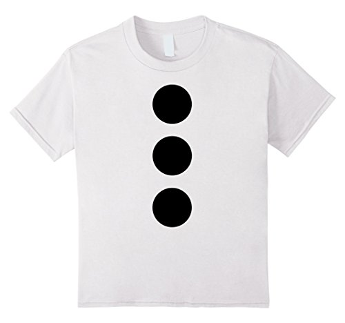 Homemade Snowman Costume (Kids Snowman Winter Costume Shirt 6 White)