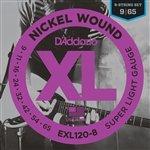 3 Pack D'Addario EXL120-8 Super Light 8 String electric guitar ()
