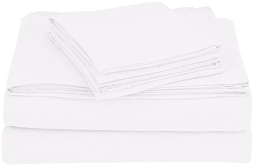 COYUCHI 1018768 Organic Jersey Sheet Set, Full, Alpine White