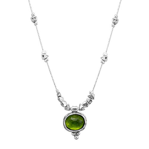 Silpada 'Daintree' 5 ct Natural Green Quartz Pendant Necklace in Sterling Silver