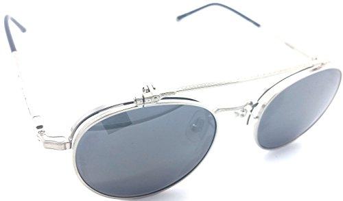 Matsuda M3060 Brushed Silver round - Matsuda Eyewear