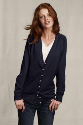 Women s Lands  End Canvas Cotton Cashmere Cardigan (UK Size 14 - 16 ... ff7c9395c