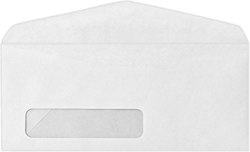 - #10 Open Window (No Plastic) Envelopes - 24lb. Bright White (50 Qty.)