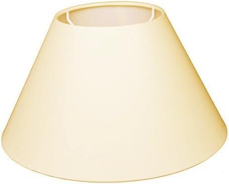 Lampenschirm f/ür Tischleuchte Leinen Charm Creme TL 35-25-19
