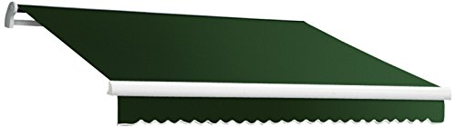 Awntech 16-Feet MAUI EXE Model Right Motor Retractable Awning, 16-Feet Wide by 10-Feet Depth, Forest Green (Right Motor Retractable Awning)