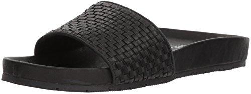 JSlides Women's Naomie Sneaker, Black, 6 M US