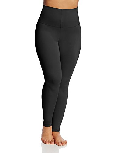 BODYSLIMMERS NANCY GANZ Women's Double Zero Firm Control Shaping Legging with Belly Band, Black, X-Large