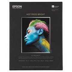 Price comparison product image * Hot Press Bright Fine Art Paper, 8-1/2 x 11, Bright White, 25 Sheets