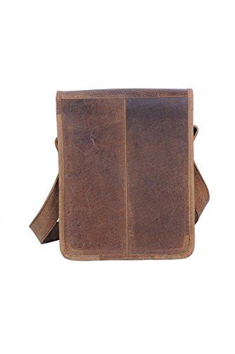 Komalc 11 Inch Vintage Hunter Leather Satchel for Ipad / TabletsSALE by KomalC (Image #4)