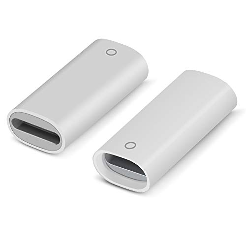 Jiunai 2 Pack Adapter Compatible with Apple Pencil Adapter Female to Female Charging Adapters Lightning Cable Adapter for iPad Pro Apple Pencil