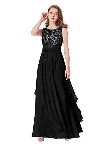 Ever-Pretty Womens Wedding Guest Dresses 6 US Black ()