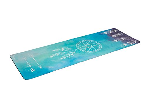 Zennery Combo/Deluxe Yoga Mat (Dream Catcher- Watercolor Blue) Review