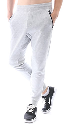 42446b16519 Hat and Beyond Mens Fleece Jogger Pants Elastic Active Basic Urban Harem Slim  Fit